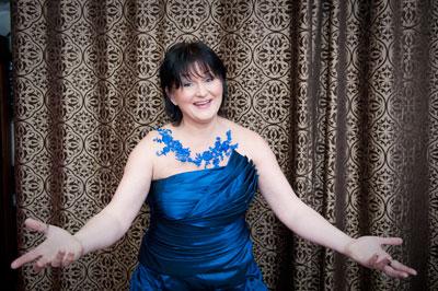 Agnes Zwierko w mojej sukni w Atelier