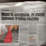 Dedykcja od Agnieszki Zwierko dla Kamy Ostaszewskiej.