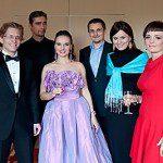 Justyna Reczeniedi, Kinga Wojciechowska, Kama Ostaszewska, Milo Siemiński przed występem w Forum Humanum Mazurkas w Warszawie.