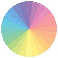 Paleta pastelowych kolorów