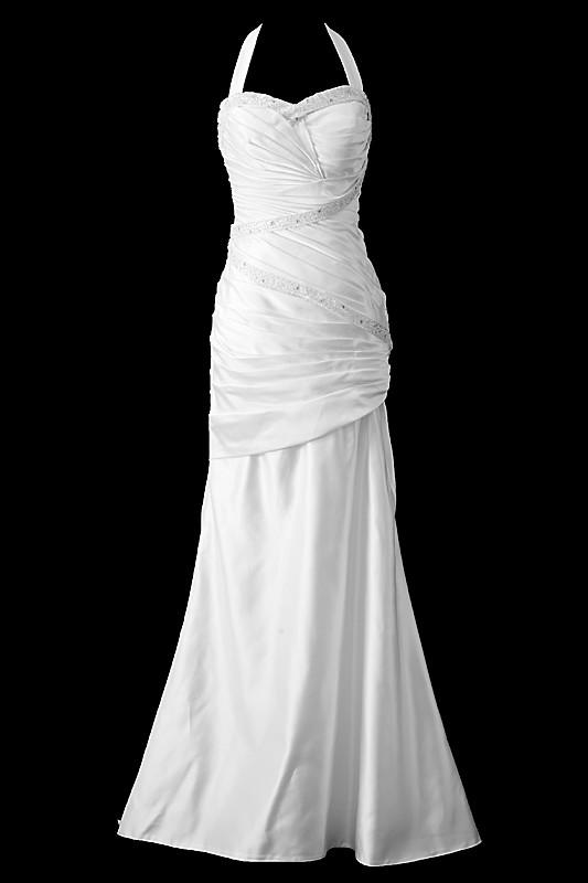 Przepiękna długa suknia ślubna syrenka / rybka na gorsecie z dekoltem w serduszko. Z tyłu sukienka ma podpinany tren i jest zapinana na guziczki.