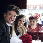 Krystian Adam Krzeszowiak z żoną Natalią i projektantką Kamą Ostaszewską.