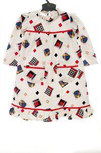 Kolorowa sztruksowa sukienka dla dziewczynki