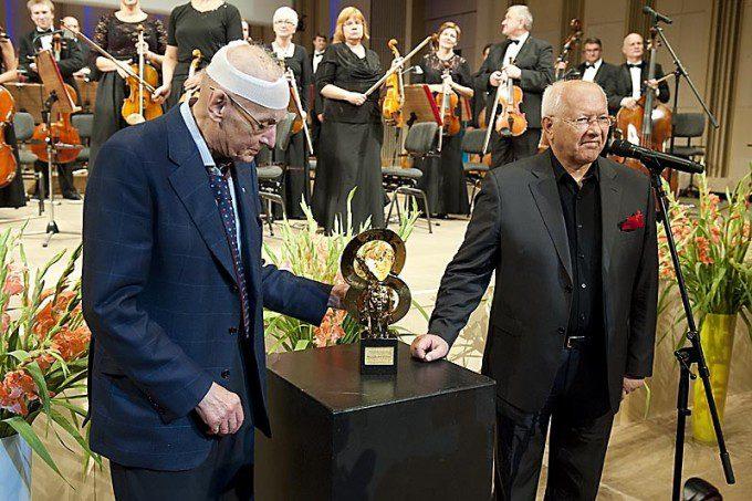 Wojciech Kilar, laureat Nagrody Pokoju oraz Wojciech Siudmak
