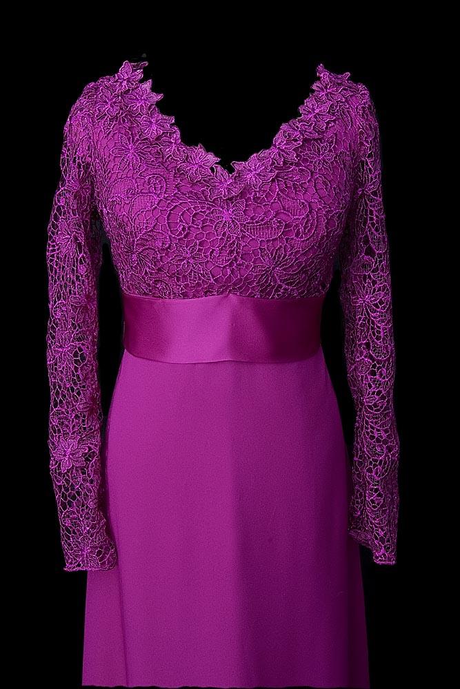 Elegancka suknia wieczorowa w kolorze fuksji MIla