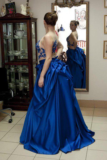 Suknia Natalii Rubiś-Krzeszowiak na koncercie sylwestrowym 2013 w Płockiej Szkole Muzycznej