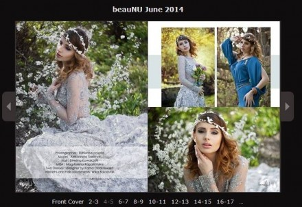 Editorial w sukniach Kamy Ostaszewskiej w Beau Nu Magazine