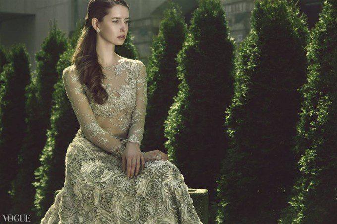 Suknia Kamy Ostaszewskiej w włoskim Vogue
