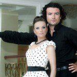 Justyna Reczeniedi i Krystian Adam Krzeszowiak w trakcie kręcenia teledysku do Trudnego Tanga.