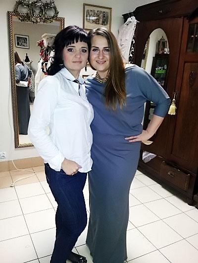 Kasia Wilk w sukience od Kamy Ostaszewskiej.