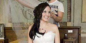 Natalia Rubiś-Krzeszowiak uszyła w Atelier Ostaszewska swoją suknię ślubną.