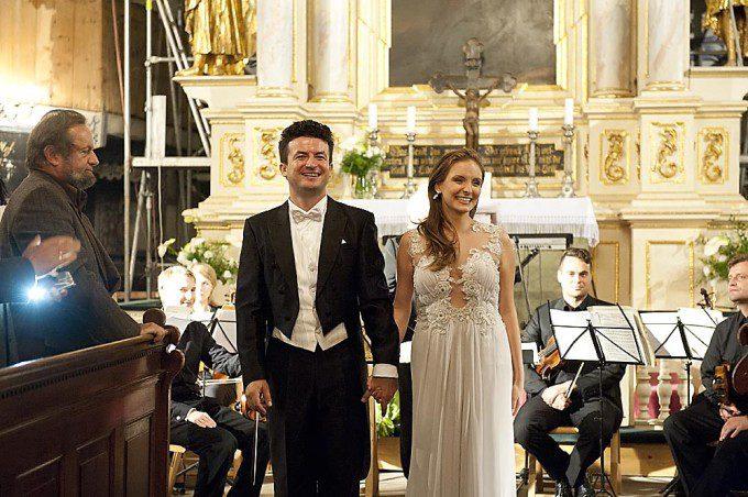 Koncert Pokoju w Jaworze - Krystian Krzeszowiak z żoną Natalią