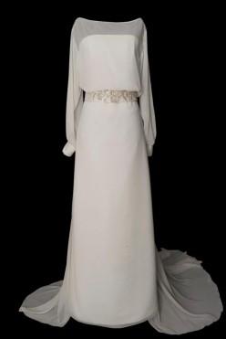 Sukienka w stylu lat 20 ze zbluzowaną górą