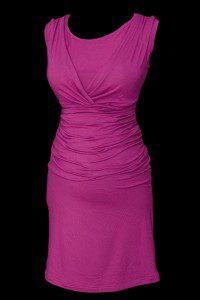 Sukienka wizytowa dla kobiet w ciąży w kolorze fuksji