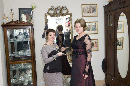 Mezzosopranistka Agnieszka Rehlis w sukni uszytej w Atelier Ostaszewka