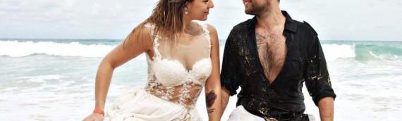 Seksowna suknia ślubna Oksany w sesji na Dominikanie